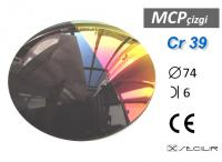 Cr 39 MCP Çizgi Degrade C74 B6 S10 UV Filtre