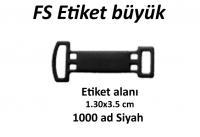 Fiyat Etiket FS Siyah Büyük A1000