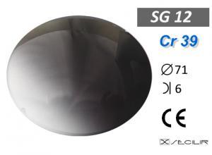 Cr 39 SG12 Füme Deg C71 B6 UV Filtre