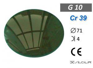 Cr 39 G10 Yeşil C71 B4 UV Filtre