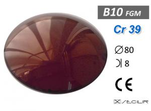 Cr 39 FGM Gold C80 B8 UV Filtre