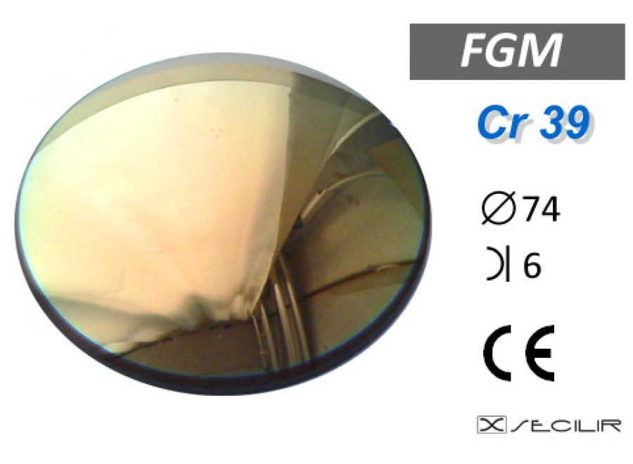 Cr 39 FGM Gold C74 B6 UV Filtre